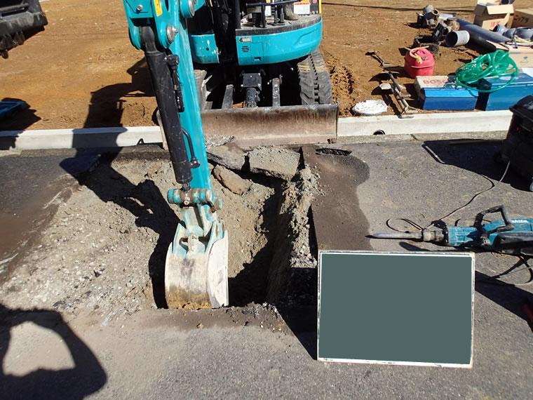 堺市での給水管引込工事